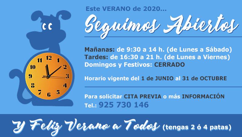Horario Centro Veterinario Fuensalida